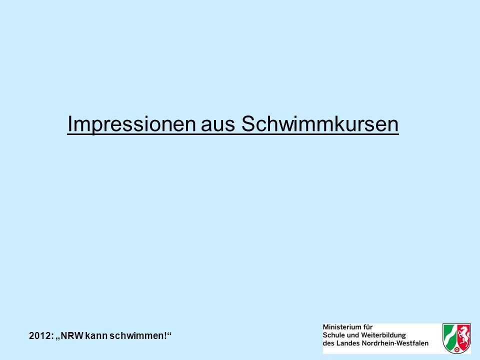 2012: NRW kann schwimmen! Impressionen aus Schwimmkursen