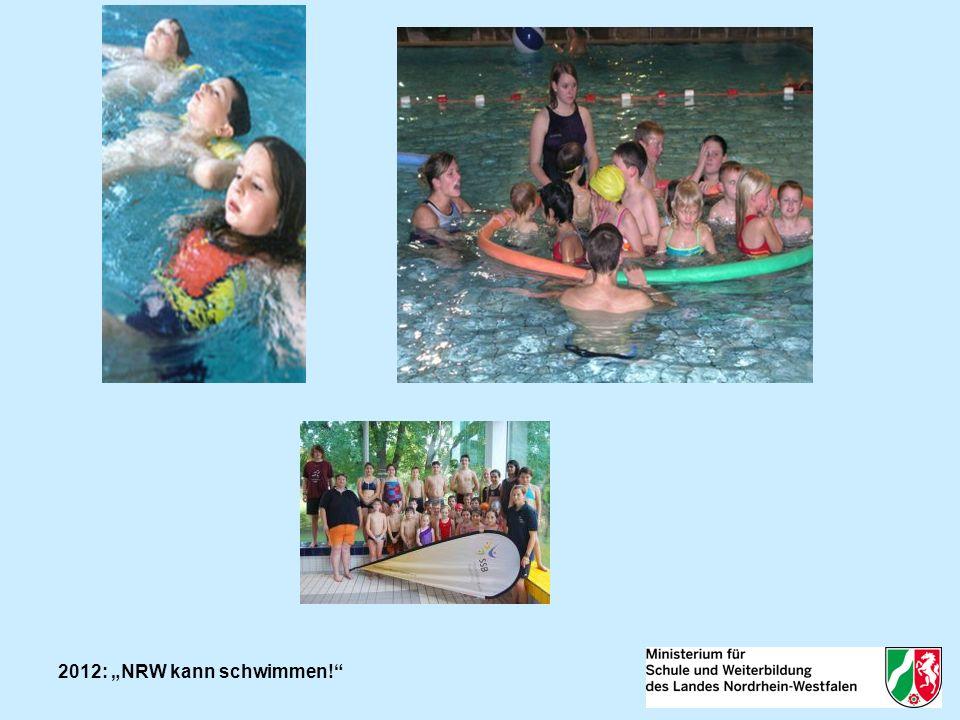NRW kann schwimmen! Mediale Aufmerksamkeit erzielte das Landesprogramm auch in diesem Jahr.