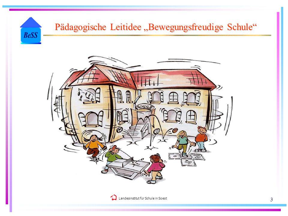 Landesinstitut für Schule in Soest 3 Pädagogische Leitidee Bewegungsfreudige Schule