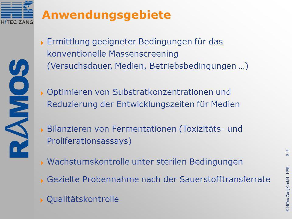 S. 8 © HiTec Zang GmbH - HRE Ermittlung geeigneter Bedingungen für das konventionelle Massenscreening (Versuchsdauer, Medien, Betriebsbedingungen …) O