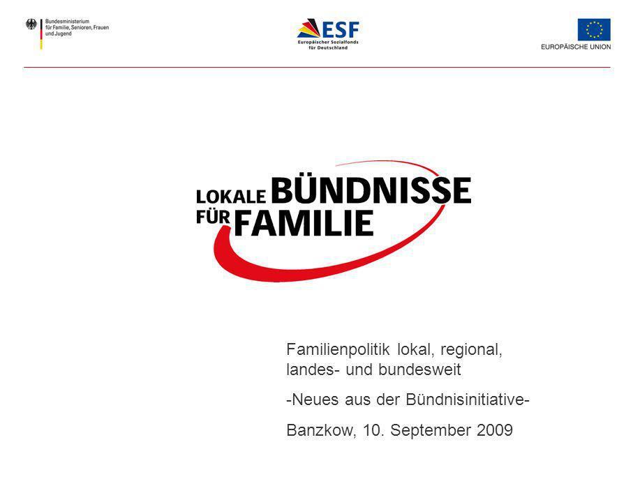 Familienpolitik lokal, regional, landes- und bundesweit -Neues aus der Bündnisinitiative- Banzkow, 10.