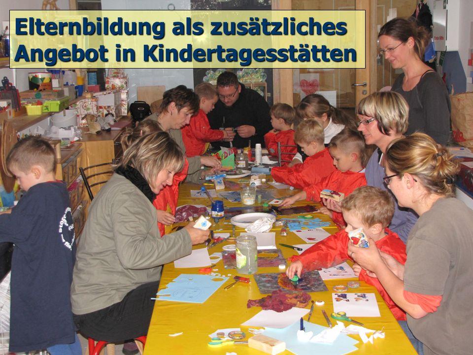 Elternbildung als zusätzliches Angebot in Kindertagesstätten