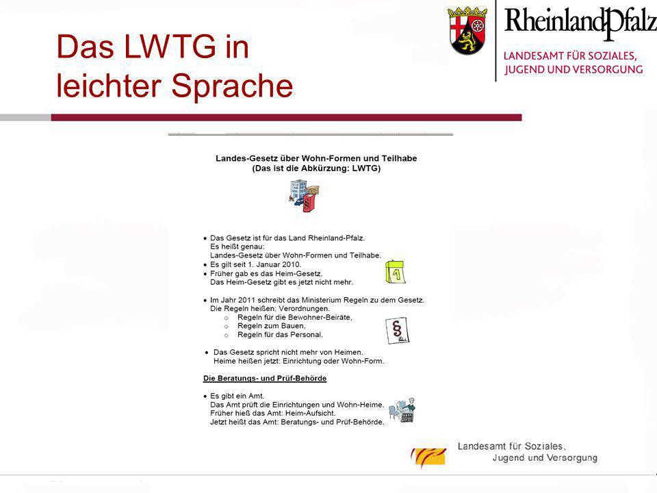 Das LWTG in leichter Sprache