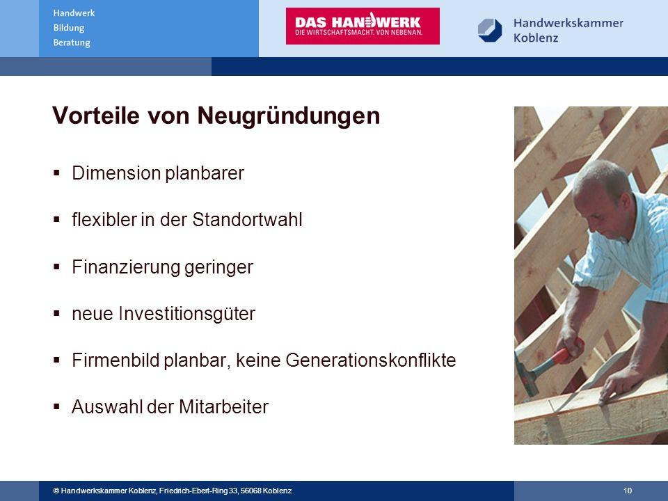 © Handwerkskammer Musterstadt, Musterstraße 123, 12345 Musterstadt © Handwerkskammer Koblenz, Friedrich-Ebert-Ring 33, 56068 Koblenz 10 Vorteile von N