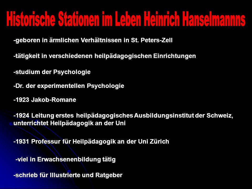 -geboren in ärmlichen Verhältnissen in St. Peters-Zell -tätigkeit in verschiedenen heilpädagogischen Einrichtungen -studium der Psychologie -Dr. der e