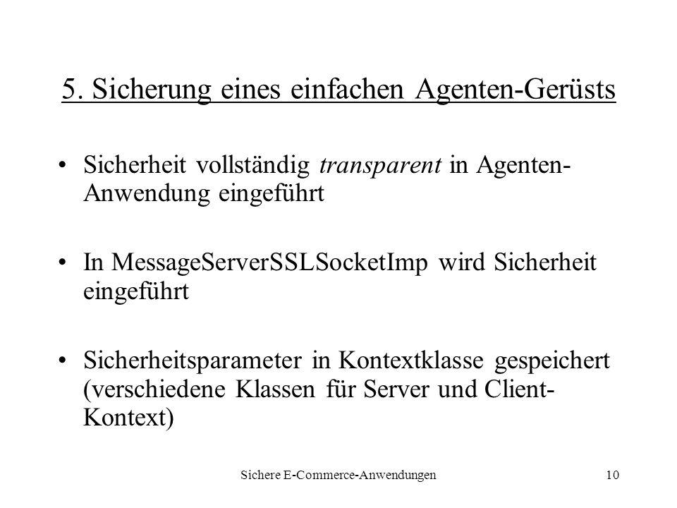 Sichere E-Commerce-Anwendungen10 5.