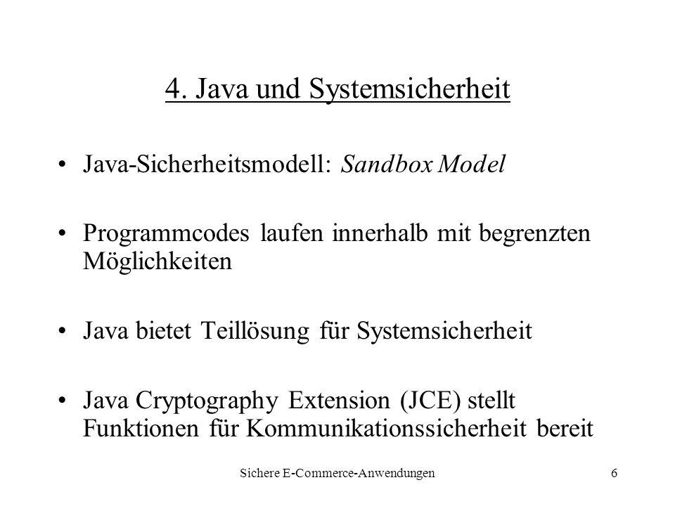 Sichere E-Commerce-Anwendungen17 6.