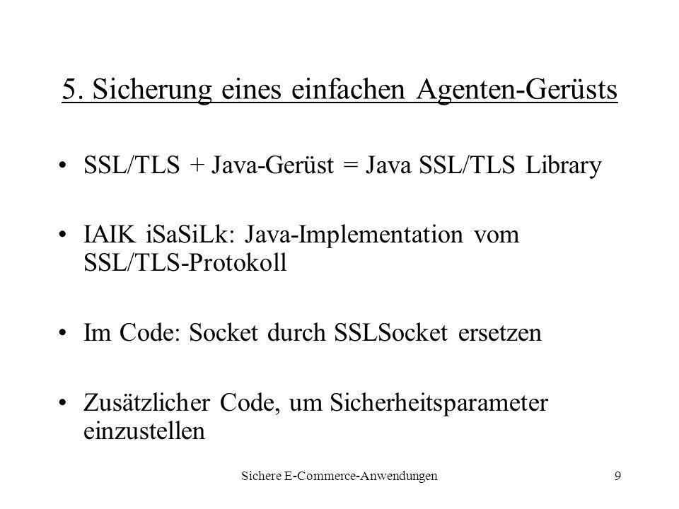 Sichere E-Commerce-Anwendungen9 5.
