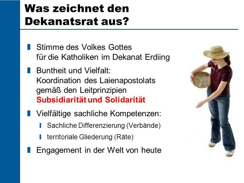 Dekanats- rat 2 – 5 weitere Kleriker Dekanats- Jugendseel- sorger/in und Jugend- pflegerin Dekan und stv.