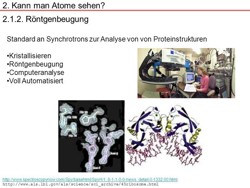 2.1.2.Röntgenbeugung 2. Kann man Atome sehen.