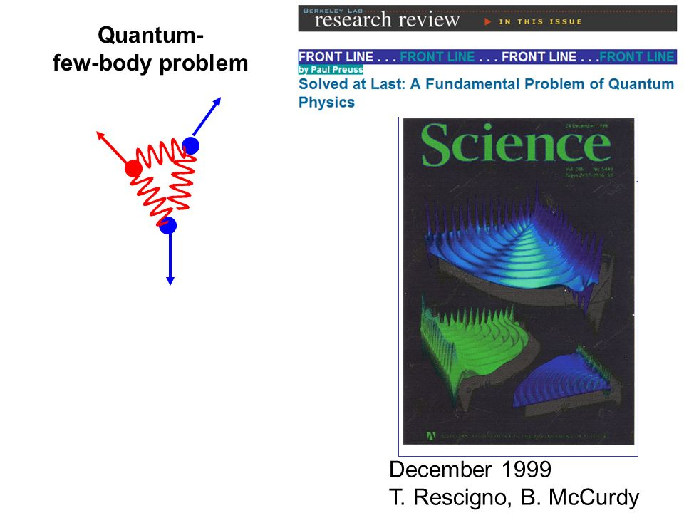Quantum- few-body problem December 1999 T. Rescigno, B. McCurdy