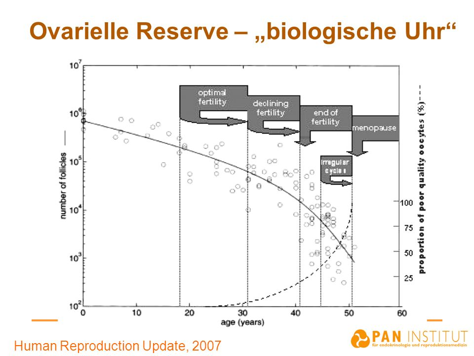 Ovarielle Reserve – biologische Uhr Human Reproduction Update, 2007