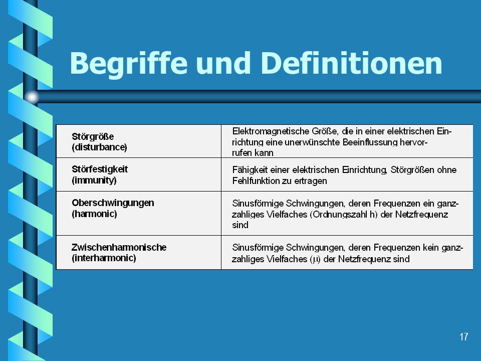 17 Begriffe und Definitionen