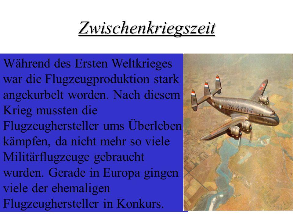 Während des Ersten Weltkrieges war die Flugzeugproduktion stark angekurbelt worden. Nach diesem Krieg mussten die Flugzeughersteller ums Überleben käm