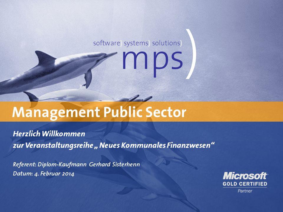 Präsentationstitel 4. Februar 2014 Management Public Sector mps ) software) systems) solutions) Herzlich Willkommen zur Veranstaltungsreihe Neues Komm