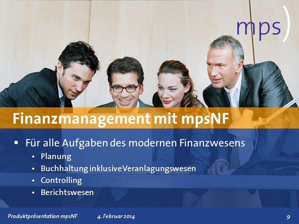Präsentationstitel 4. Februar 2014 Für alle Aufgaben des modernen Finanzwesens Planung Buchhaltung inklusive Veranlagungswesen Controlling Berichtswes