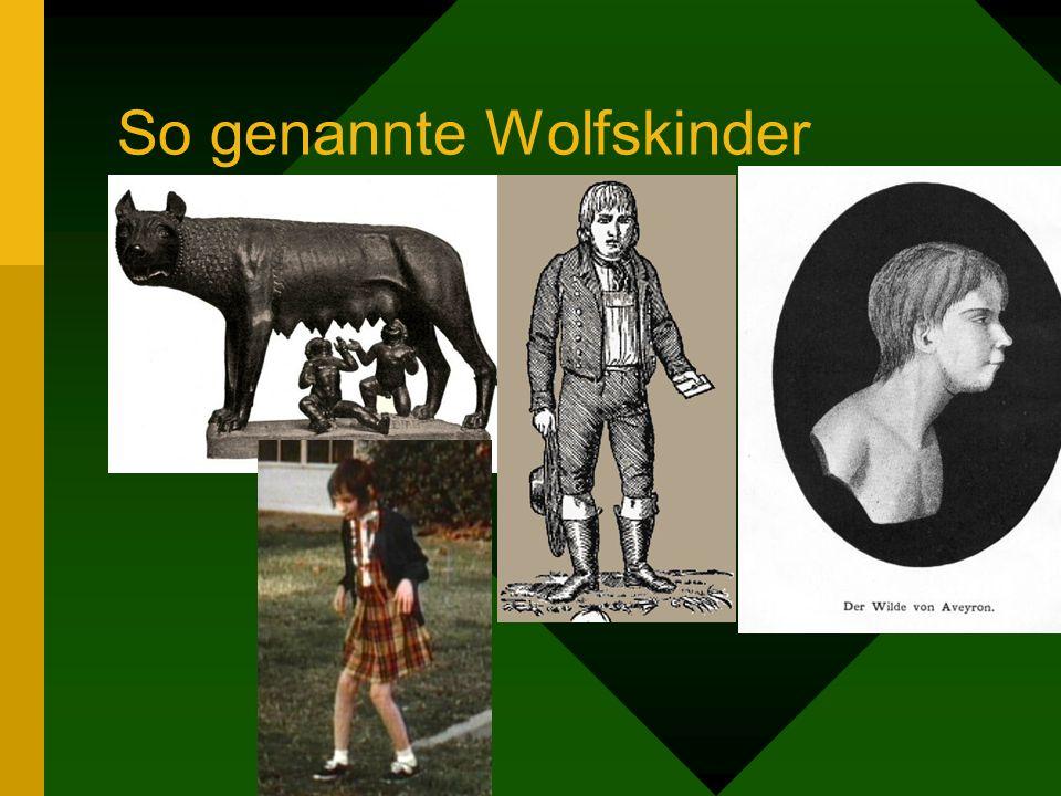 So genannte Wolfskinder