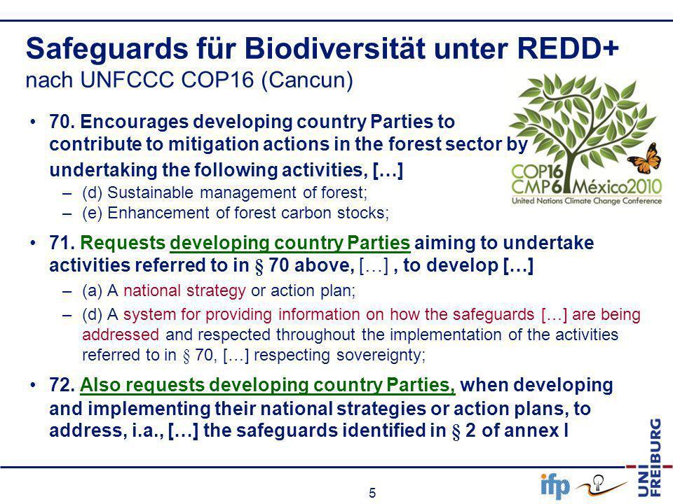 6 UNFCCC COP16 (CANCUN-decision) - I I 3 (c) enhanced action on mitigation 75.