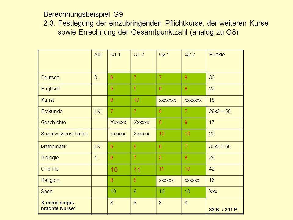 Berechnungsbeispiel G9 4.
