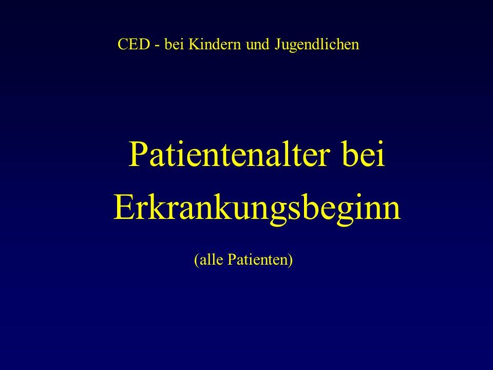 CED - bei Kindern und Jugendlichen Patientenalter bei Erkrankungsbeginn (alle Patienten)