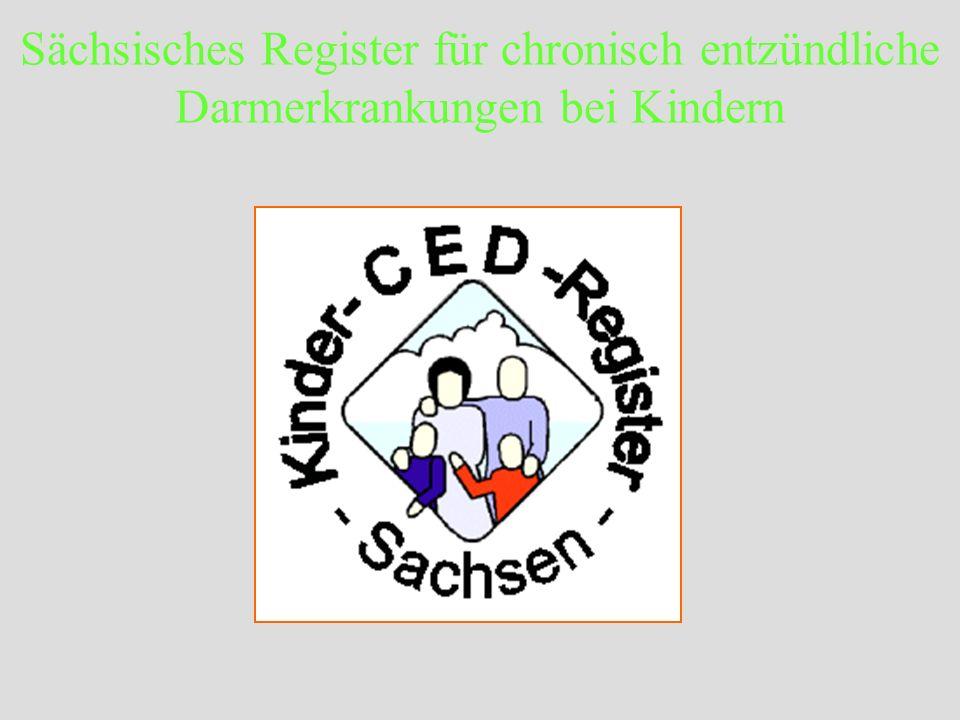 Sächsisches Register für chronisch entzündliche Darmerkrankungen bei Kindern Überprüfung des Registers mittels einer zweiten Datenquelle Altersverteilung von 60 Kindern und Jugendlichen mit CED, die von ambulanten Kollegen an die 2.