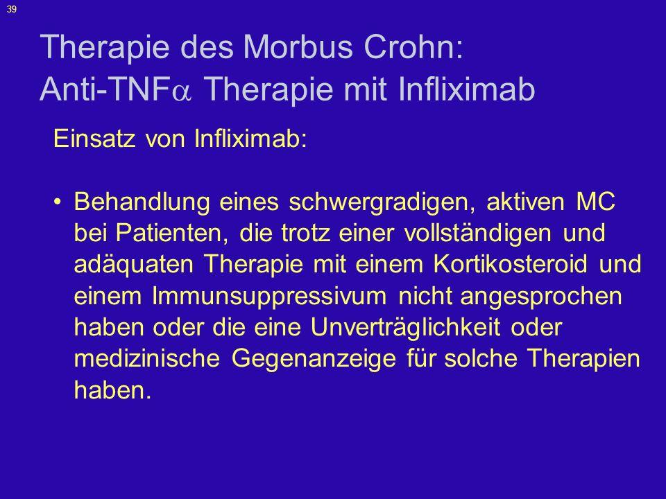40 Proinflammatorische Zytokine bei Morbus Crohn Sands BE.