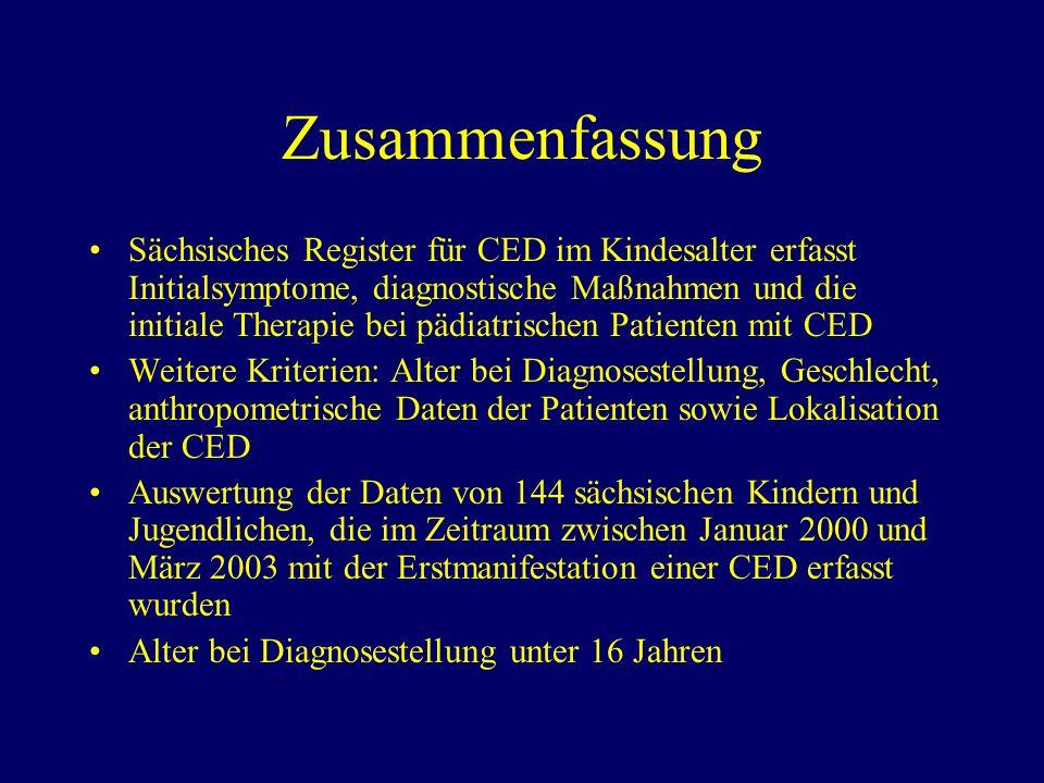 Einleitung (1) Kennzeichen der CED (Morbus Crohn, Colitis ulcerosa, Colitis indeterminata): - Rezidivierende bzw.