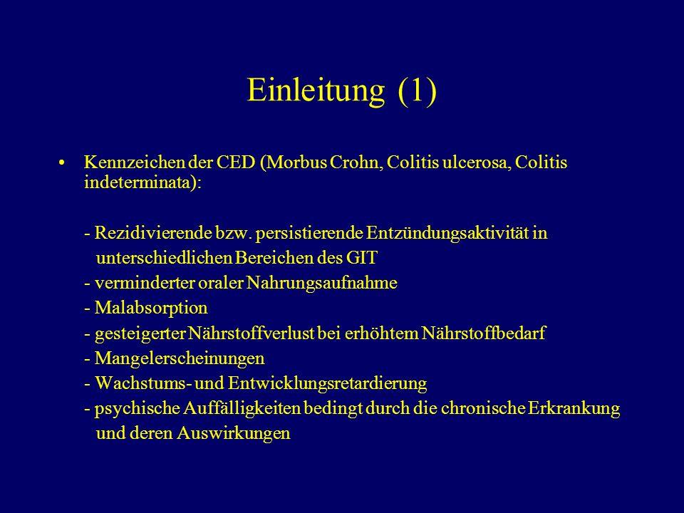 Resumé Für CED im Kindesalter liegen in Deutschland wenig systematisch erfasste klinische Daten vor.