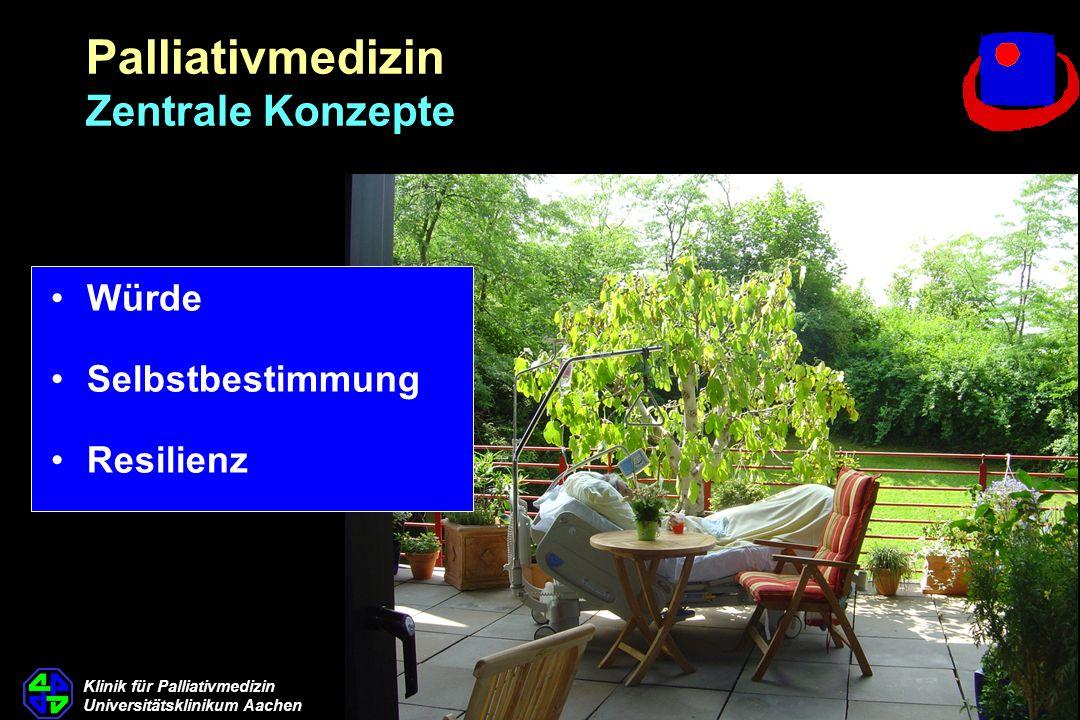Klinik für Palliativmedizin Universitätsklinikum Aachen Würde Selbstbestimmung Resilienz Palliativmedizin Zentrale Konzepte