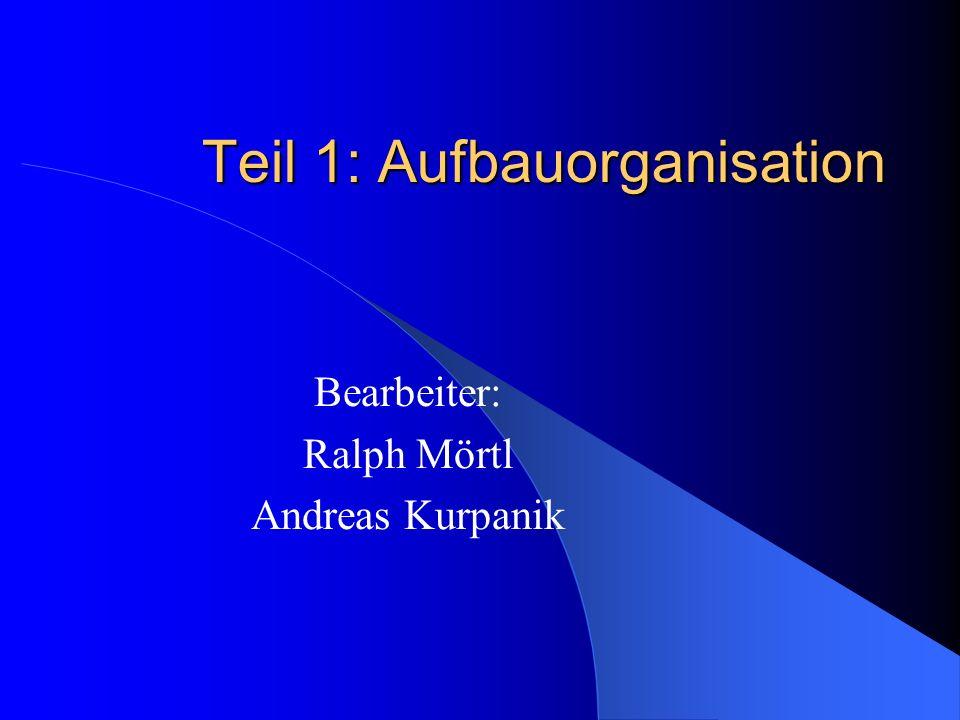 Aufbauorganisation – Warum.