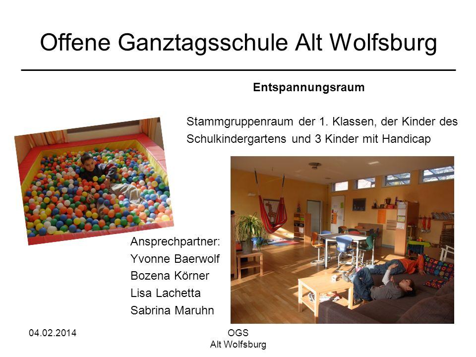 04.02.2014OGS Alt Wolfsburg Offene Ganztagsschule Alt Wolfsburg Entspannungsraum Stammgruppenraum der 1. Klassen, der Kinder des Schulkindergartens un