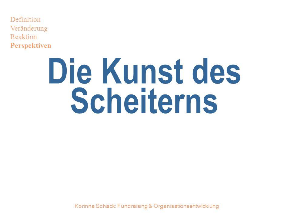 Korinna Schack: Fundraising & Organisationsentwicklung Die Kunst des Scheiterns Definition Veränderung Reaktion Perspektiven