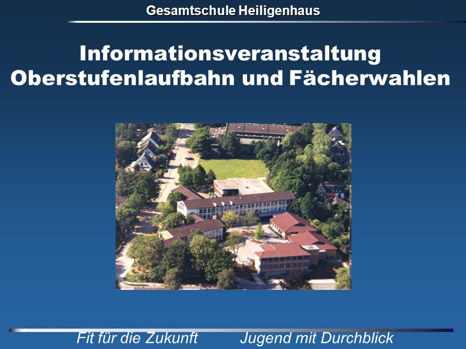 Gesamtschule Heiligenhaus Fit für die Zukunft Jugend mit Durchblick Informationsveranstaltung Oberstufenlaufbahn und Fächerwahlen