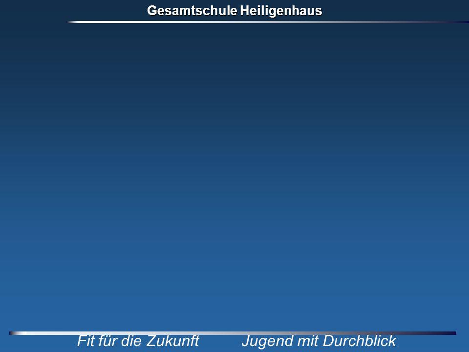 Gesamtschule Heiligenhaus Fit für die Zukunft Jugend mit Durchblick