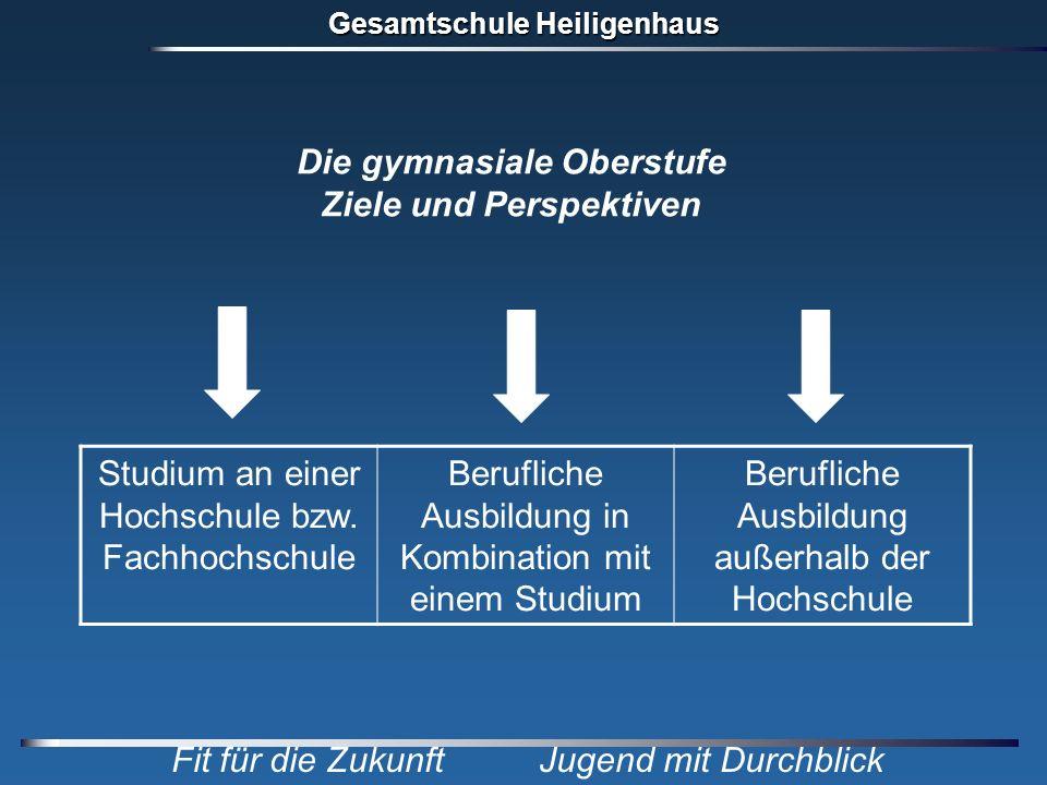 Gesamtschule Heiligenhaus Fit für die Zukunft Jugend mit Durchblick Studium an einer Hochschule bzw. Fachhochschule Berufliche Ausbildung in Kombinati