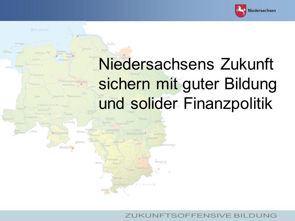Niedersachsen Niedersachsens Zukunft sichern mit guter Bildung und solider Finanzpolitik