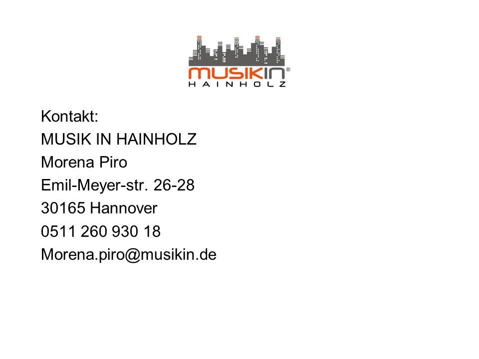 Kontakt: MUSIK IN HAINHOLZ Morena Piro Emil-Meyer-str.