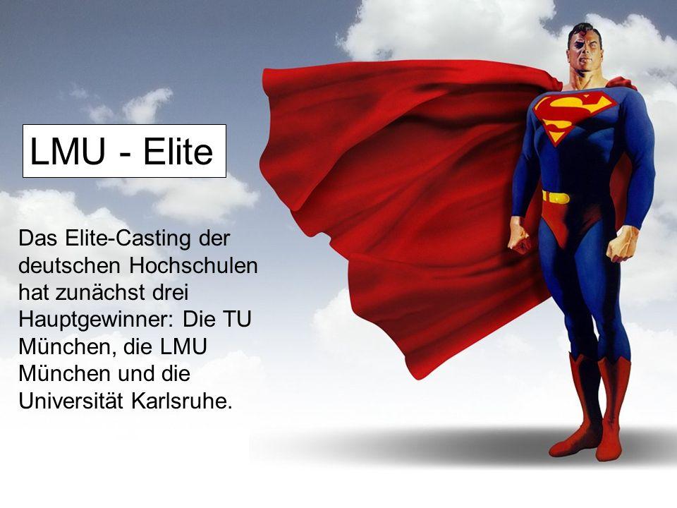 Das Elite-Casting der deutschen Hochschulen hat zunächst drei Hauptgewinner: Die TU München, die LMU München und die Universität Karlsruhe.