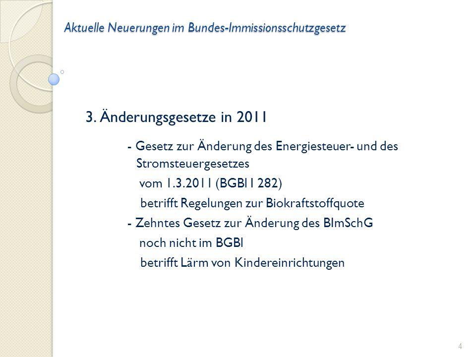 Aktuelle Neuerungen im Bundes-Immissionsschutzgesetz 2.