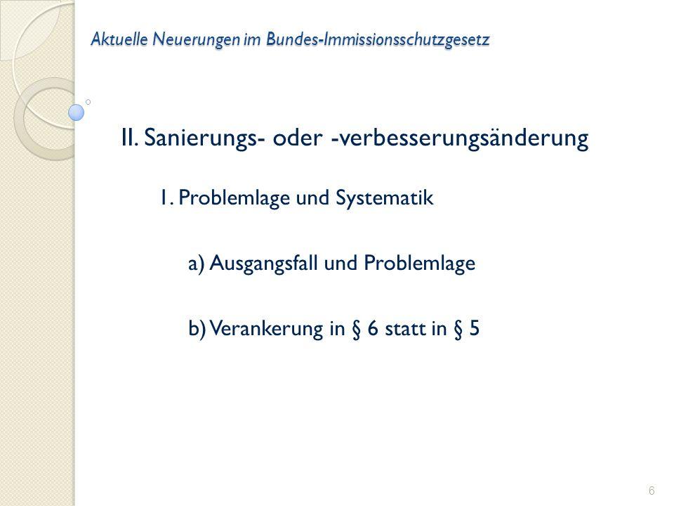 Aktuelle Neuerungen im Bundes-Immissionsschutzgesetz II.