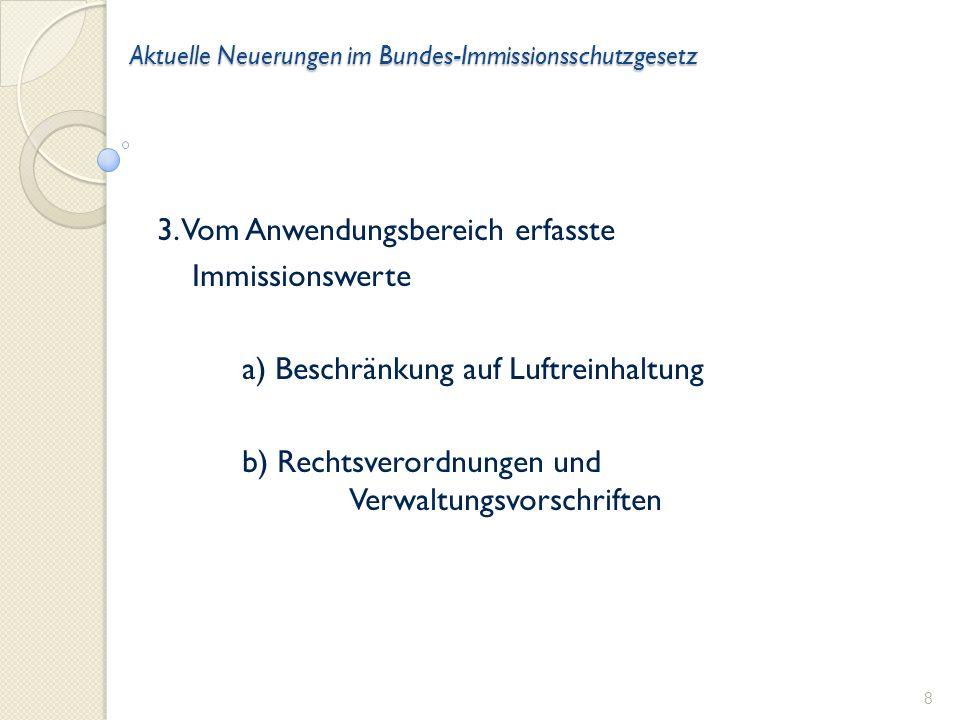 Aktuelle Neuerungen im Bundes-Immissionsschutzgesetz 3.