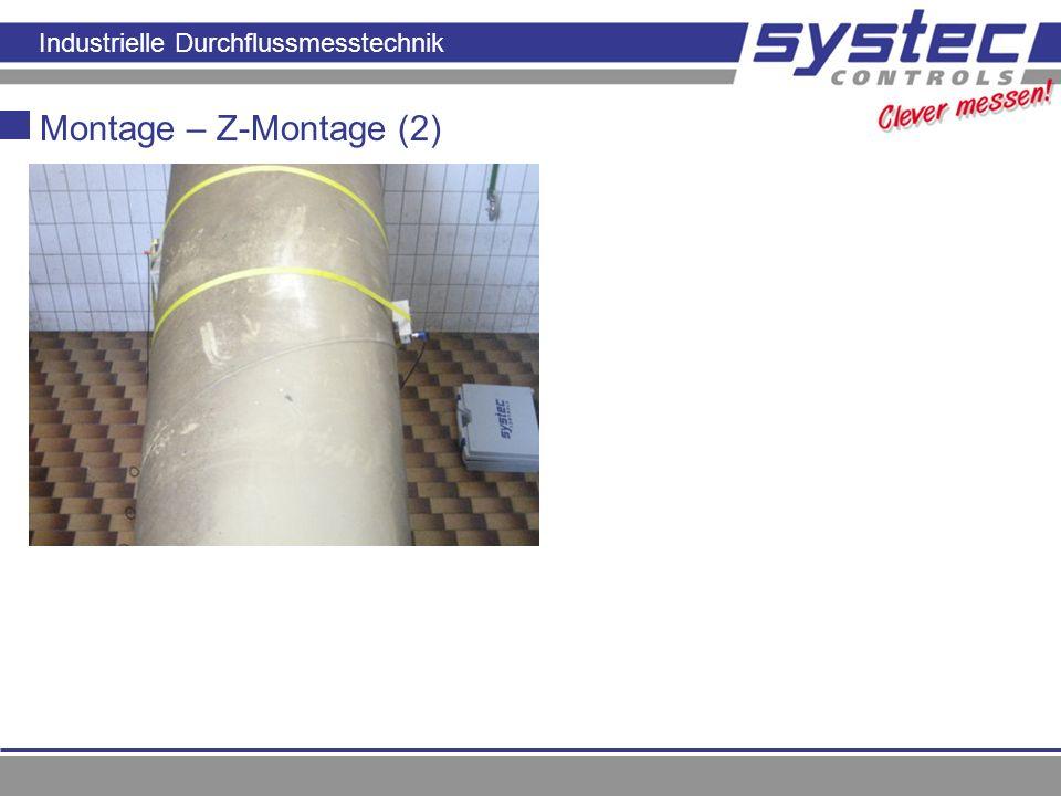 Industrielle Durchflussmesstechnik Montage – Z-Montage (2)