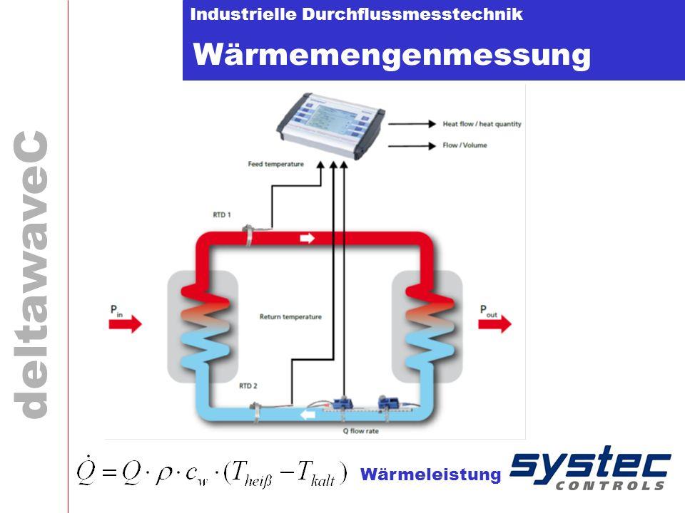 Industrielle Durchflussmesstechnik deltawaveC Wärmemengenmessung Wärmeleistung