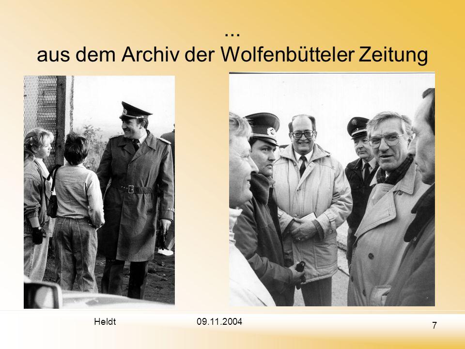 Heldt 7 09.11.2004... aus dem Archiv der Wolfenbütteler Zeitung