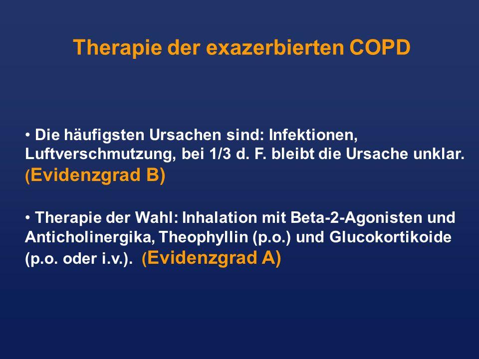 Die häufigsten Ursachen sind: Infektionen, Luftverschmutzung, bei 1/3 d. F. bleibt die Ursache unklar. ( Evidenzgrad B) Therapie der Wahl: Inhalation