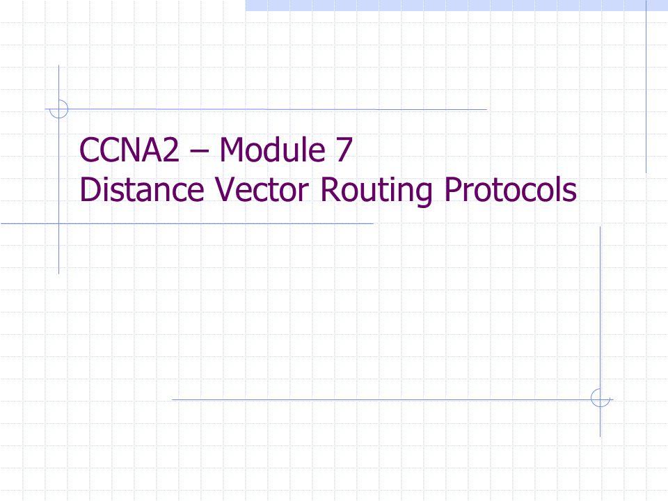 Ausbreitung von Routing-Table-Updates bei Distance Vector Routing Protokollen Werden als Ganzes zyklisch zwischen Nachbar-Routern ausgetauscht.