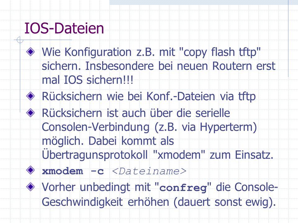 IOS-Dateien Wie Konfiguration z.B. mit