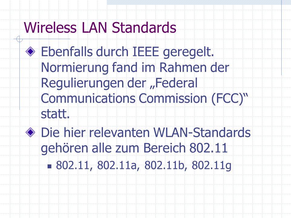 Authentication and association im WLAN Grundzustand: Nicht authentifiziert und nicht assoziiert.