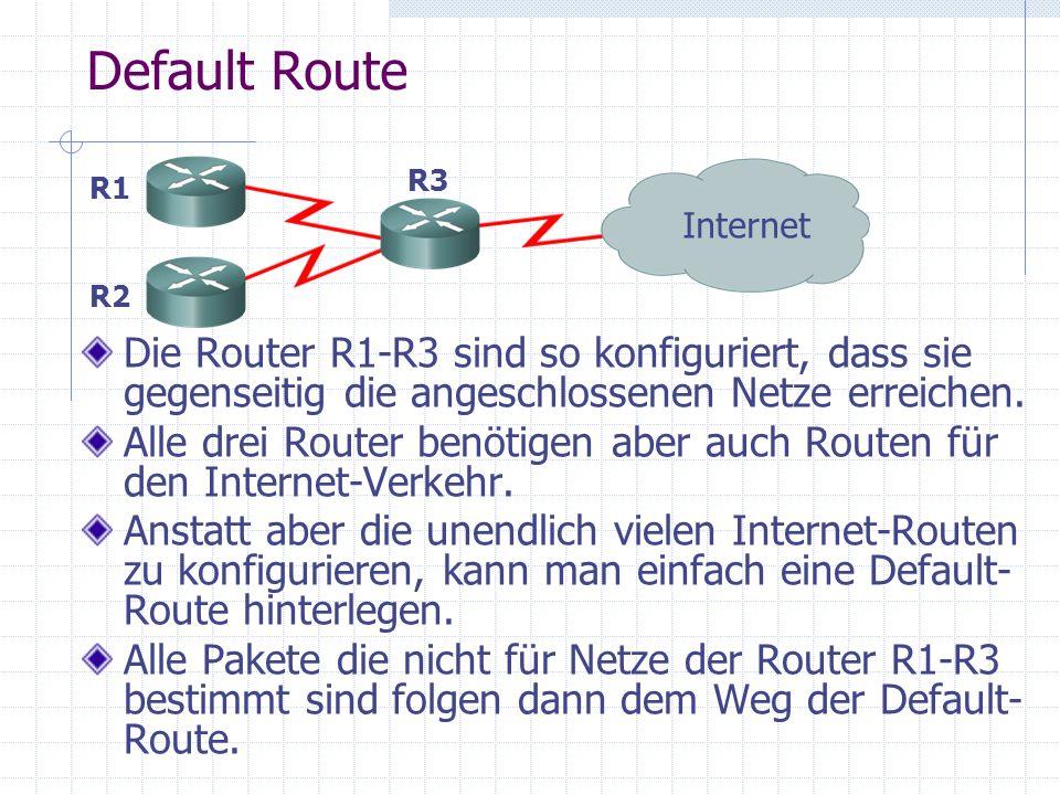 Übersicht Interior Routing Protokolle RIP: RFC1058, Hop-count als Metrik, max.