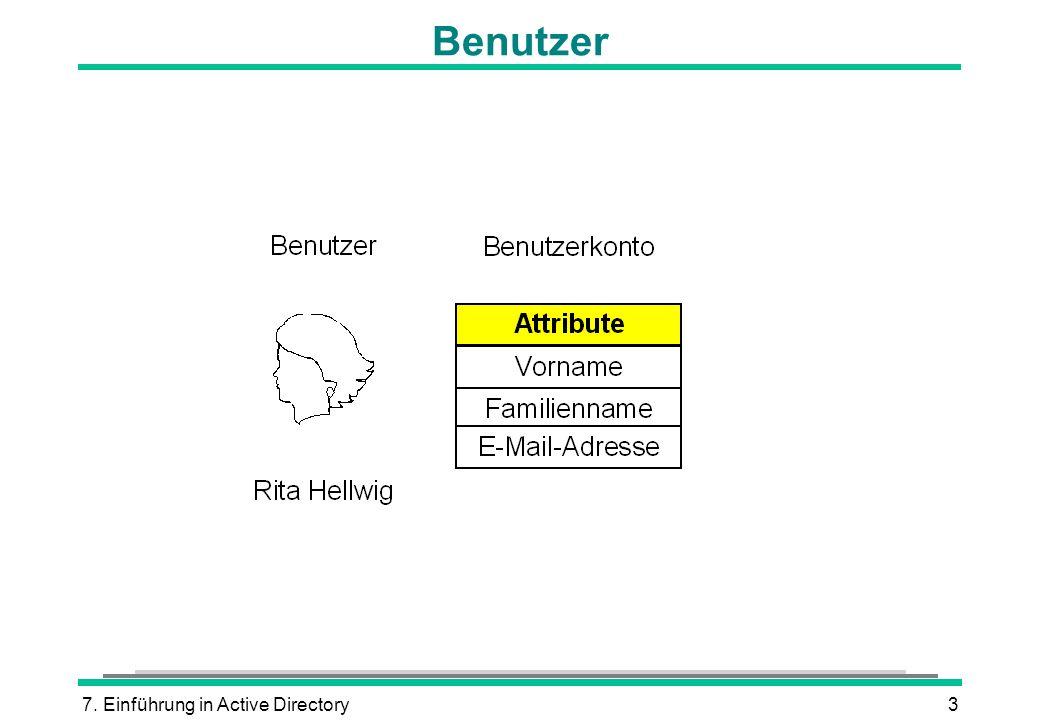 7. Einführung in Active Directory3 Benutzer